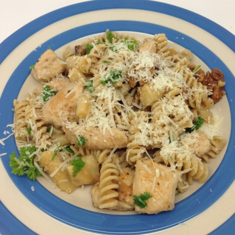 chicken and celeriac pasta