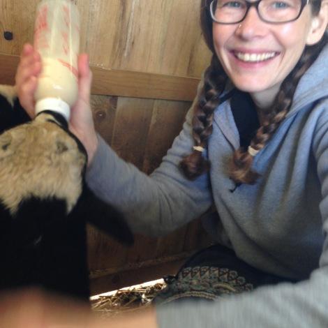 feeding Aretha