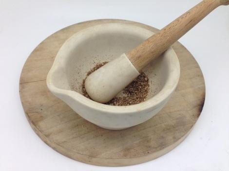 grinding coriander
