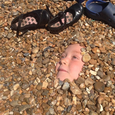 face in the shingle