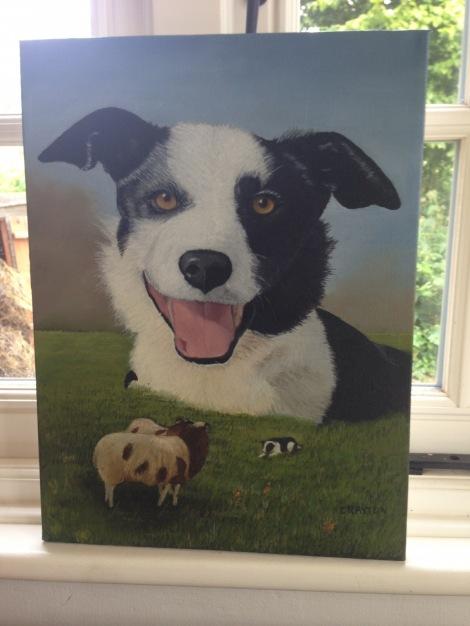 DaisyDog Painting